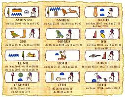 Calendrier Egyptien.Astrologie Egyptienne De Voyance Gratuite Horoscope